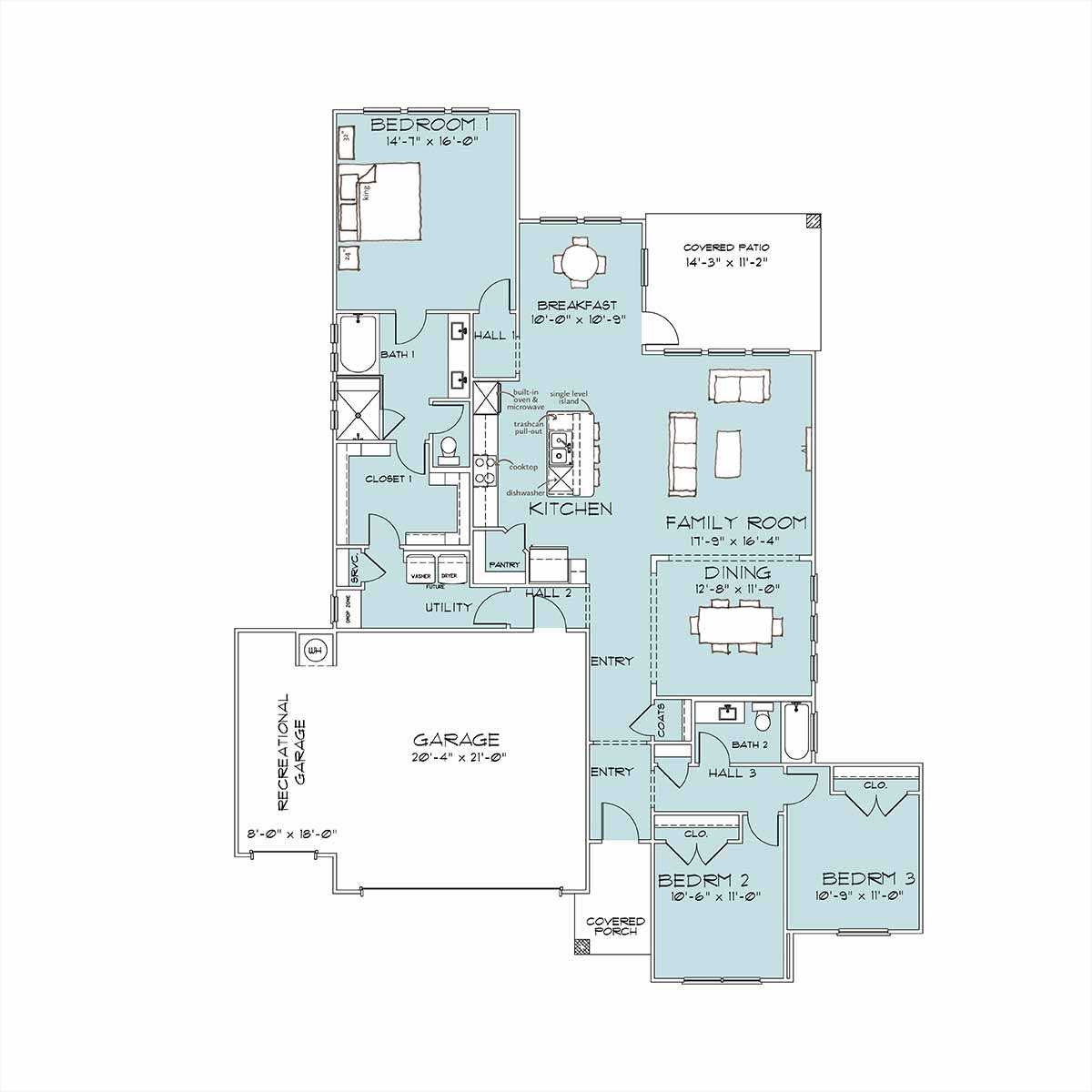 Davis Floor Plan by Omega Builders in River Place