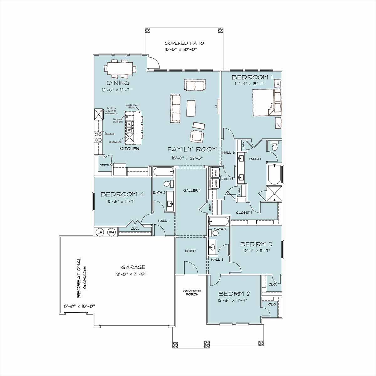 Everest Floor Plan by Omega Builders in River Place