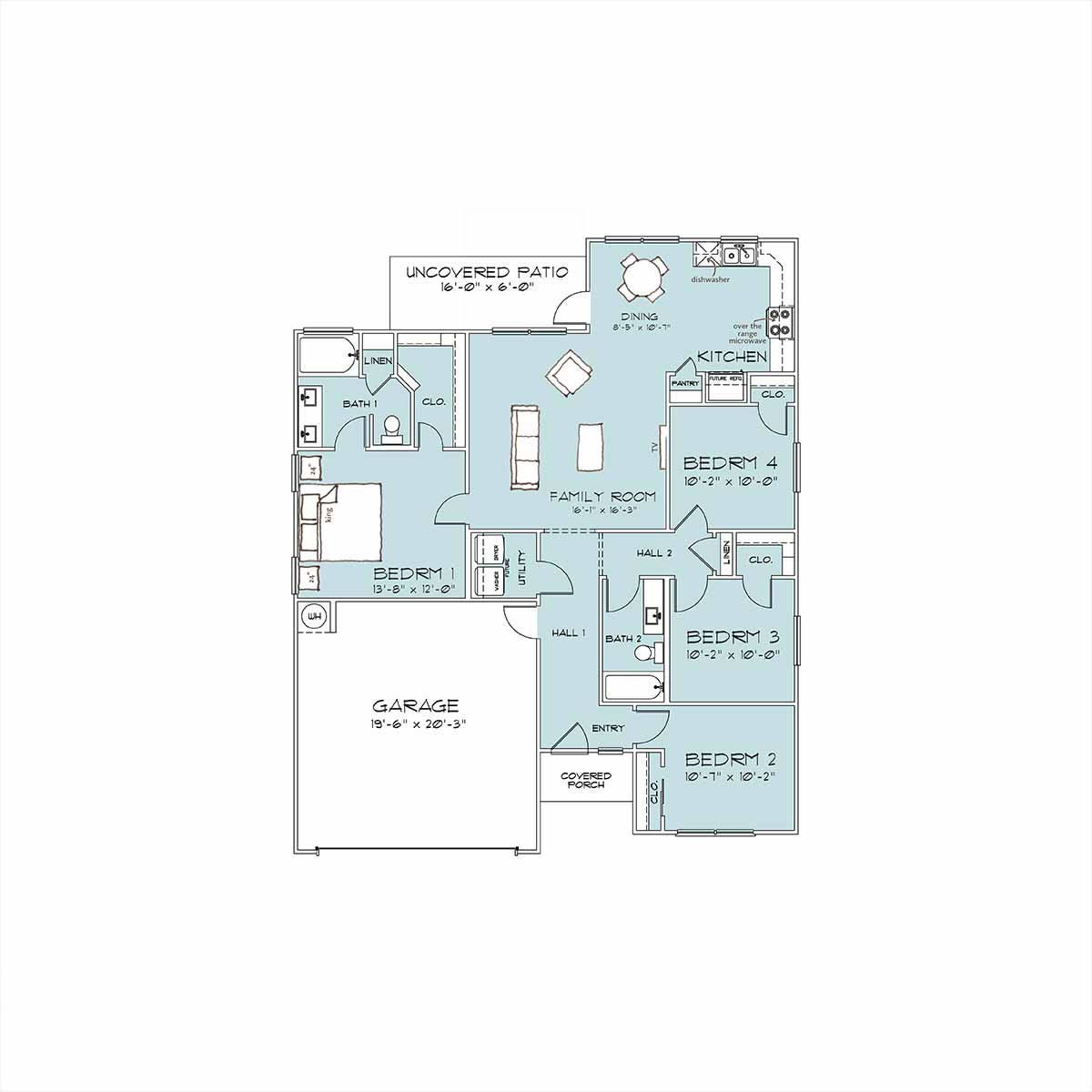 Fenway Floor Plan by Omega Builders in Heritage Place