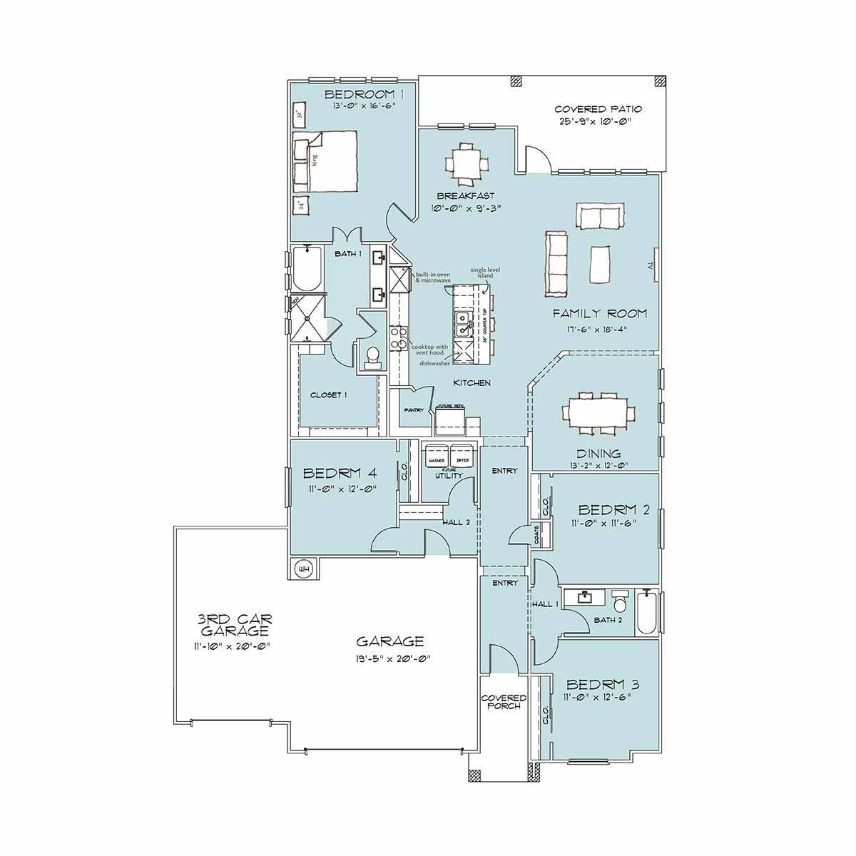 Temple TX Home Builder | Holly Floor Plan