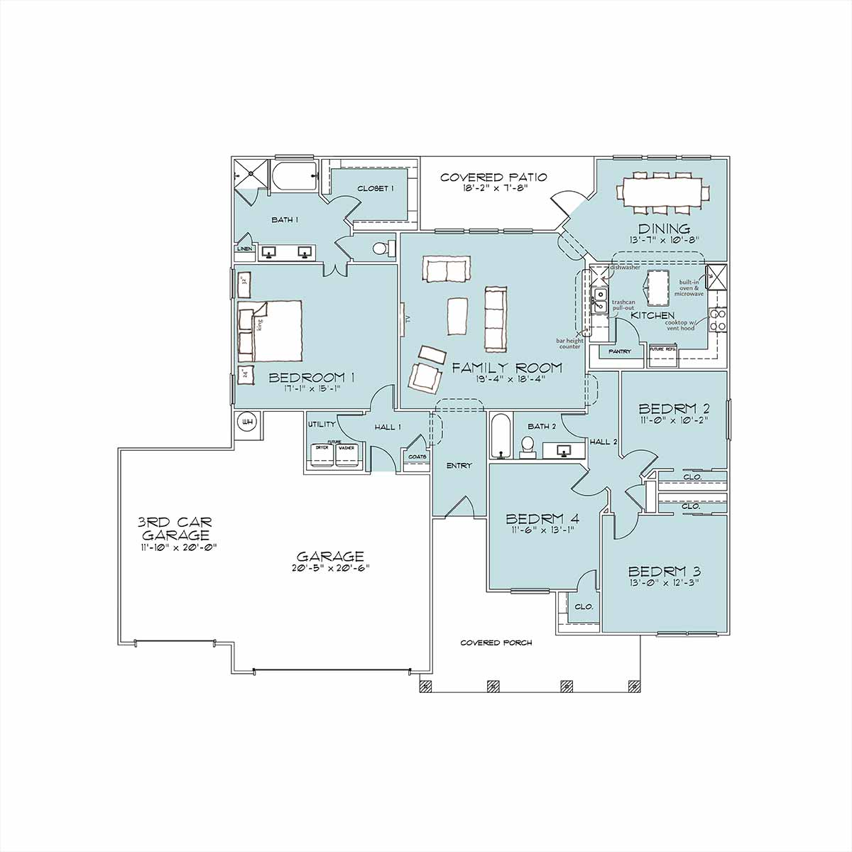 Ivy Floor Plan by Omega Builders in Valley Ranch