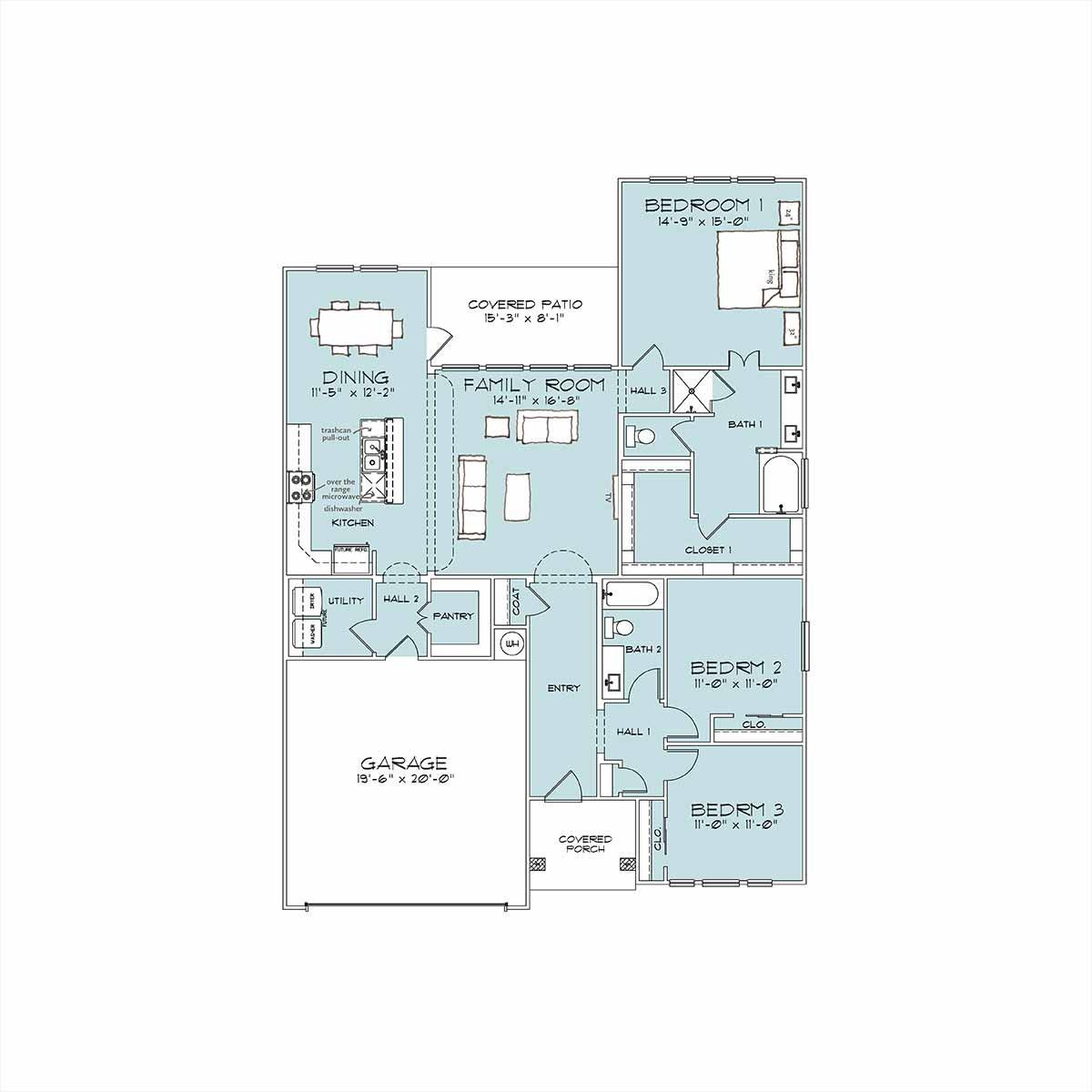 Morgan Floor Plan by Omega Builders in Wyndham Hill
