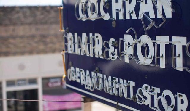 Cochran Blair & Potts Department Store in Belton TX