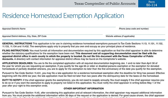 Filing Your Homestead Exemption