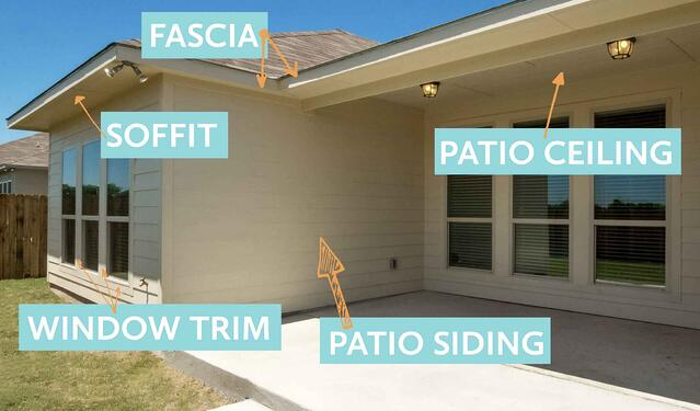 covered patio showing paint locations