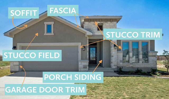 stucco colors and paint colors for soffit and fascia