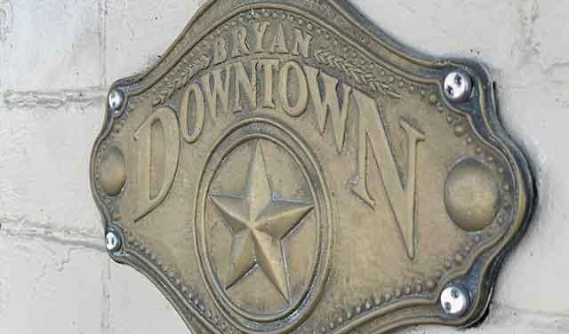 bryan-tx-downtown-plaque