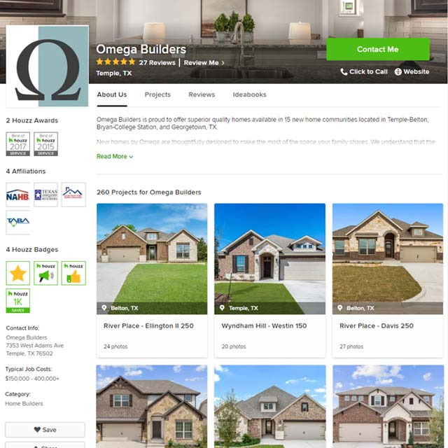 omega builders houzz projects