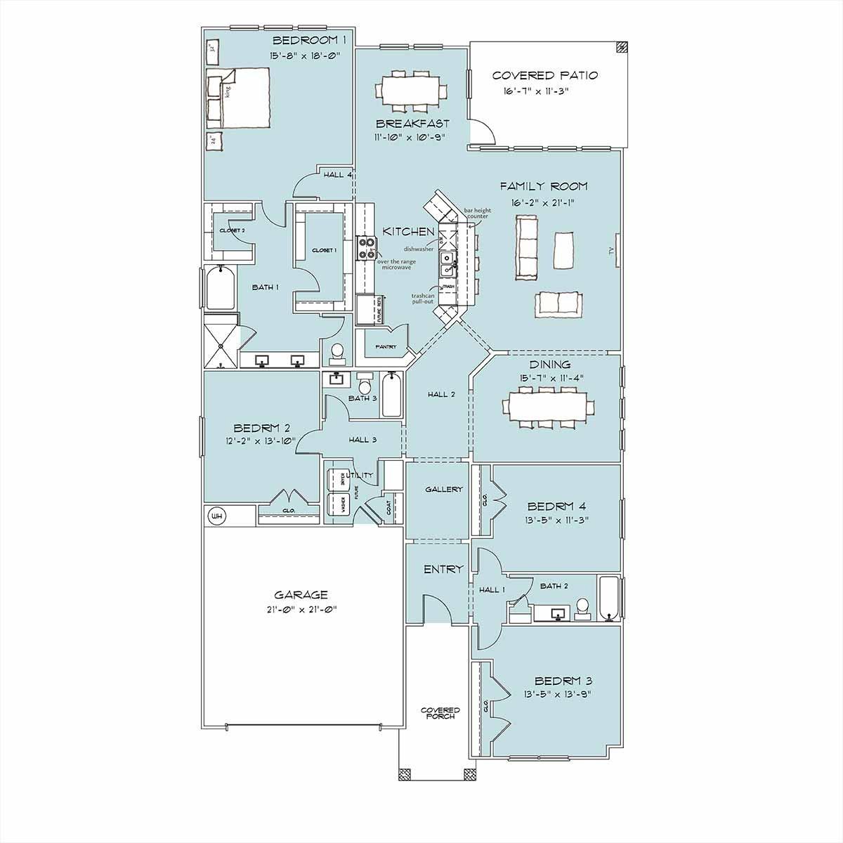 Covington Floor Plan by Omega Builders