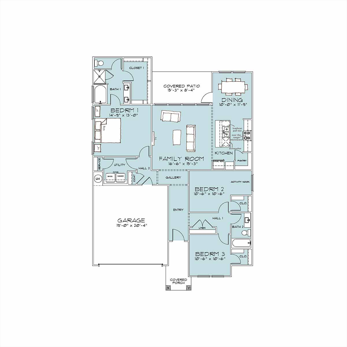 Bower Floor Plan by Omega Builders