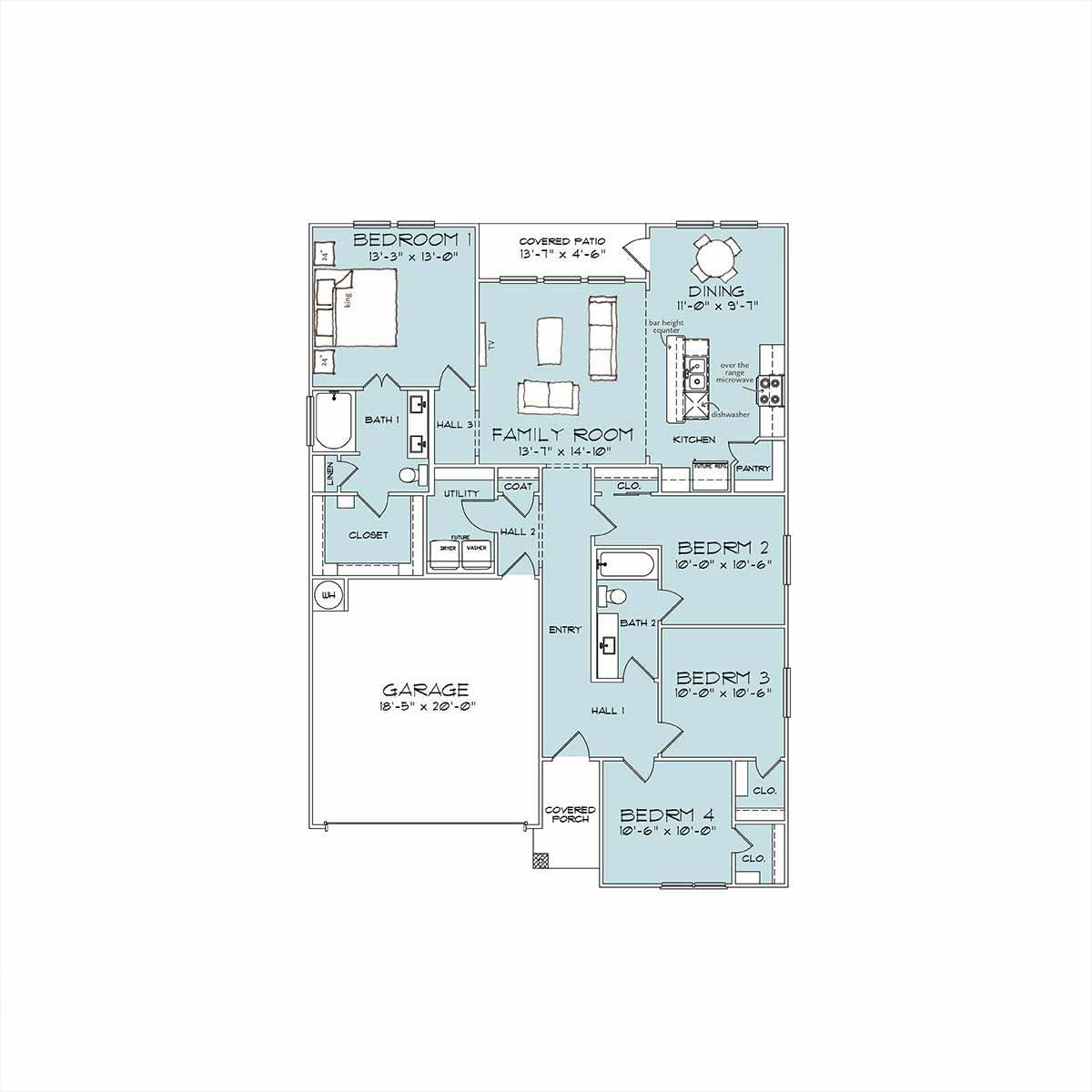 South Ridge Floor Plans: 7505 Hickman St, Temple TX