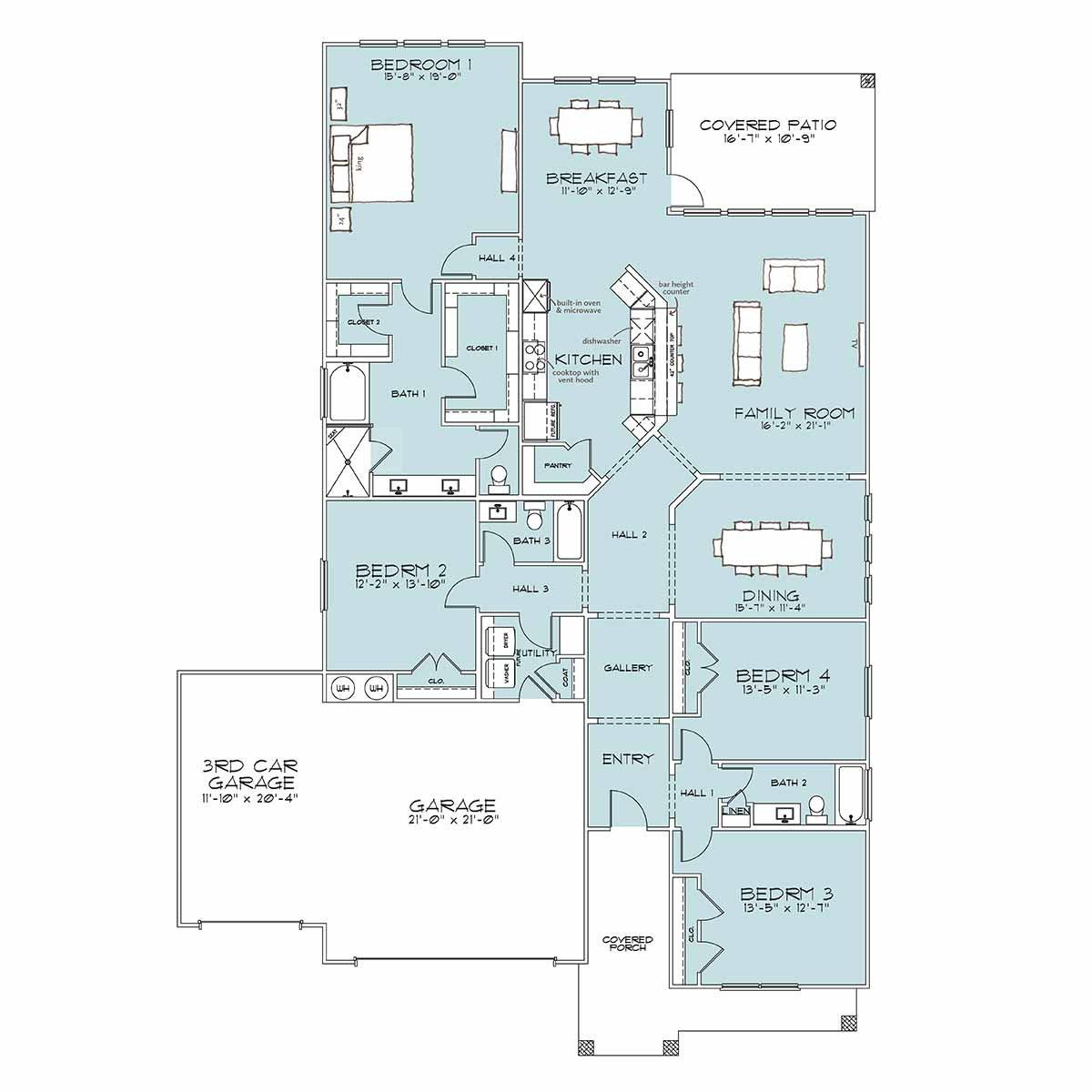 Carrington Floor Plan by Omega Builders