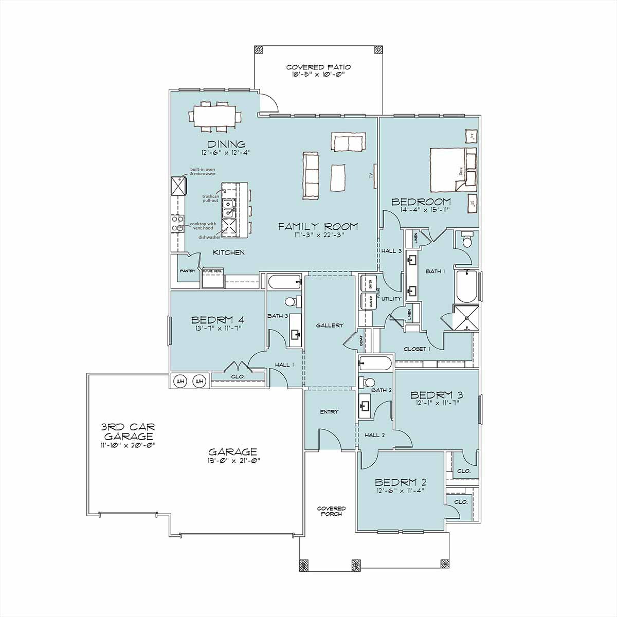 Everhart Floor Plan by Omega Builders