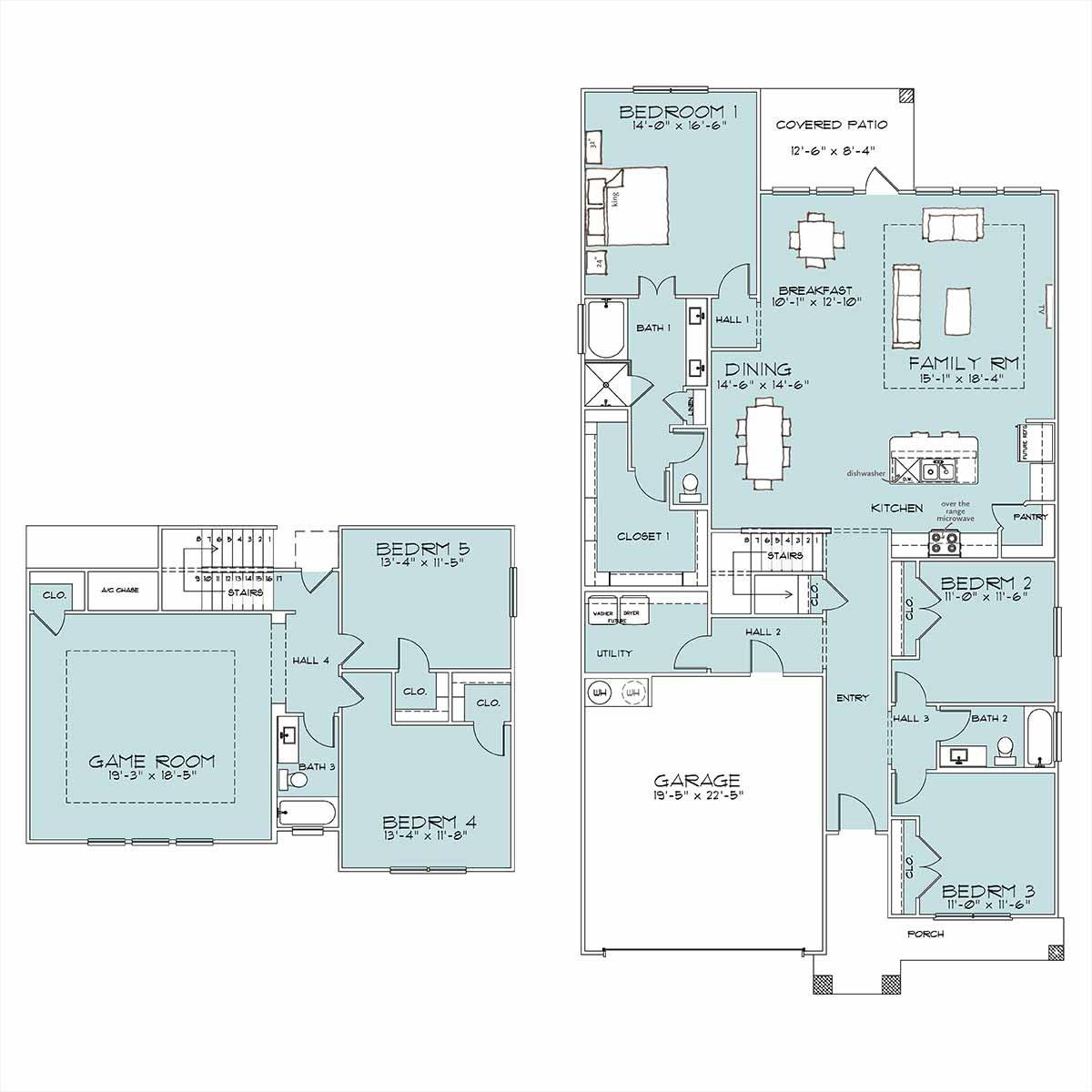 Florence floor plan by Omega Builders