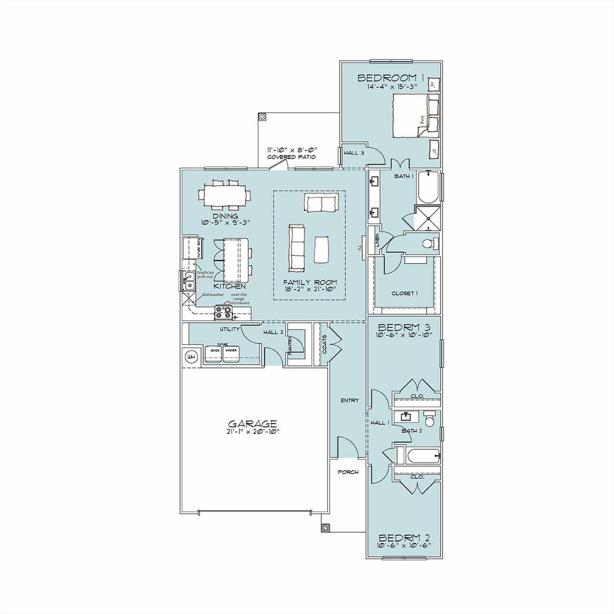 Gilman Floor Plan by Omega Builders