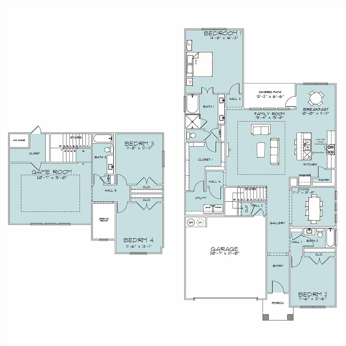 Palmer Floor Plan by Omega Builders