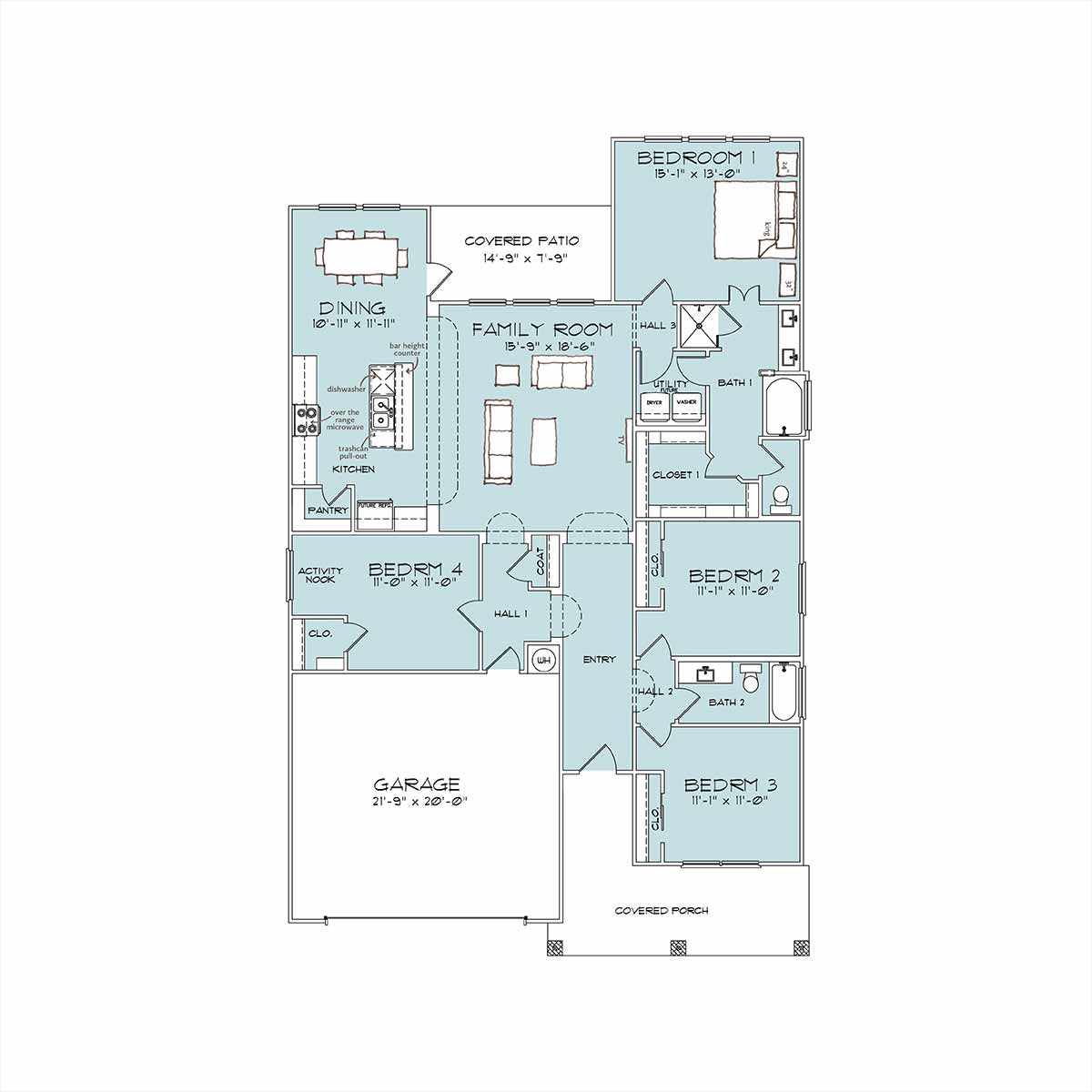 Porter Floor Plan by Omega Builders in Wyndham Hill
