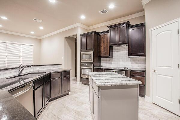 kitchen in the campus at lakewood ranch