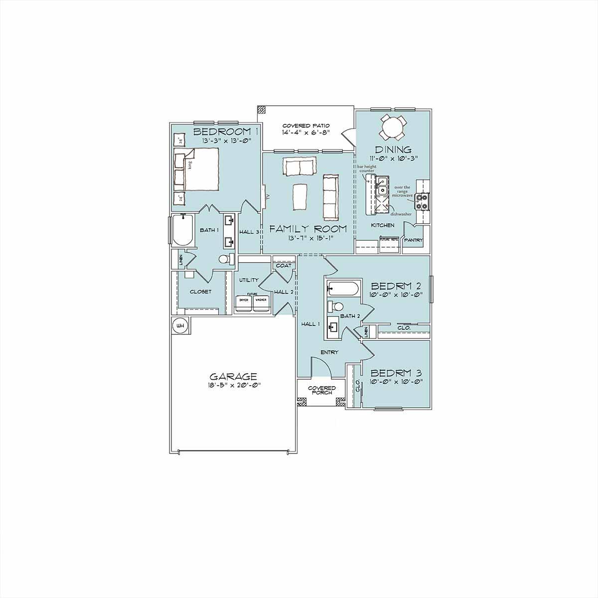 Home Builder Floor Plan Chatham