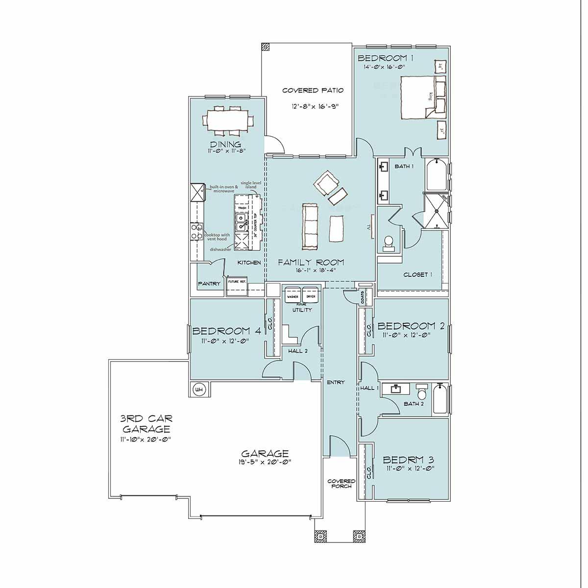 Builders in Temple TX | Violet Floor Plan