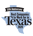 Best Companies to Work for in Texas 2020 award